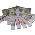$250.00 Currency Strap-Pink (1000 Pcs)