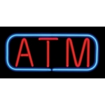 Real Neon Sign - Atm (With Border)