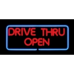 Real Neon Sign - Drive Thru Open