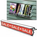 "(White) Plastic 48"" Ticket Channel Strip"