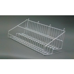 "(White) 22"" Grid 2-Tier Basket"