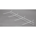 "(White) 26"" Slatwall 4-Hook Displayer"