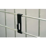 "(Black) Notch Hook / 3"" O.C. Gridwall"