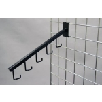 "(Black) 5 Hooks Waterfall / 3"" O.C. Gridwall"