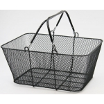 Shopping Baskets, Wire Mesh Baskets (Black)