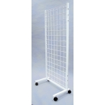 (White) Rolling Wall Display - No Shelves