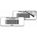 """White Void"" Custom Barcode Label - Black Ink (1000Pc)"