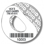 """White Void"" Custom Cd/Dvd Barcode Label - Black Ink"