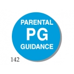 "Lbl- ""Pg"" Parental Guidance 1""(500/R)"