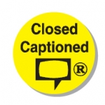"Lbl-Closed Caption 3/4"" (250/R)"