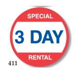 Special 3 Day Rental (500/R)