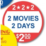 2 Movie-2Days-$2.00 Label (500/R)