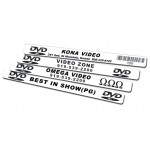 Dvd/Cd Spine Label - Custom W/Black Ink (1000Pc)