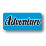 ***Closeout*** Lbl- Adventure- Rect. (500 Rl)