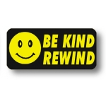 ***Closeout*** Lbl- Be Kind Rewind- Rect. (500 Rl)