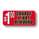 ***Closeout*** Lbl- $1 Charge If Not Rewound-Rect (500)