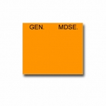 Garvey Label- Gem Mdse.(Orange)-1200 Pcs