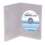 (Clear) Dvd Case With Full Sleeve (100 Pcs)