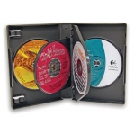 *Disc* (Black) M-Lock 6-Disc Dvd Case (52 Pcs)