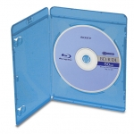 (Blue Tint) Single Blu-Ray Dvd Case - (100 Pack)