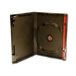 (Clear) Single Red Clip Dvd Case-100 Pc