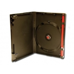 (Black) Single Red Clip Dvd Case-100 Pcs