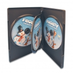 (Black) 3-Disc Dvd Case (100 Pcs)