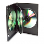 (Black) 4-Disc Dvd Case (100 Pcs)