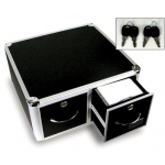 Locking Cd/Dvd Storage Drawer Case