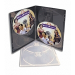 (Clear) Double Ultra Slim Dvd Case - 100