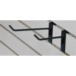 "(Black) 4"" Slatwall Hook"