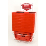 Standard-Size - Heavy Duty Hand-Held Shopping Basket Set With Plastic Handles ( 12 Pcs Set )