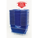 Standard-Size - Heavy Duty Hand-Held Shopping Basket Set With Chrome Handles ( 12 Pcs Set )