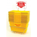 Jumbo-Size - Heavy Duty Hand-Held Shopping Basket Set With Chrome Handles ( 12 Pcs Set )