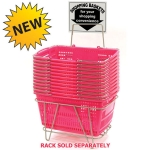 Prestige Line Jumbo Hand Held Shopping Basket Set shown with custom logo printing