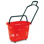 Easy-Pull Rolling Shopping Basket Set - 6 Baskets